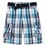 Lee® Wyoming Plaid Cargo Shorts – Boys 8-18 and Husky