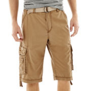UNIONBAY® Vintage Fresh Twill Belted Cargo Shorts