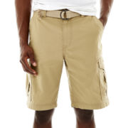 UNIONBAY® Lewis Ripstop Belted Cargo Shorts