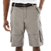Plugg® Pitbull Poplin Belted Cargo Shorts