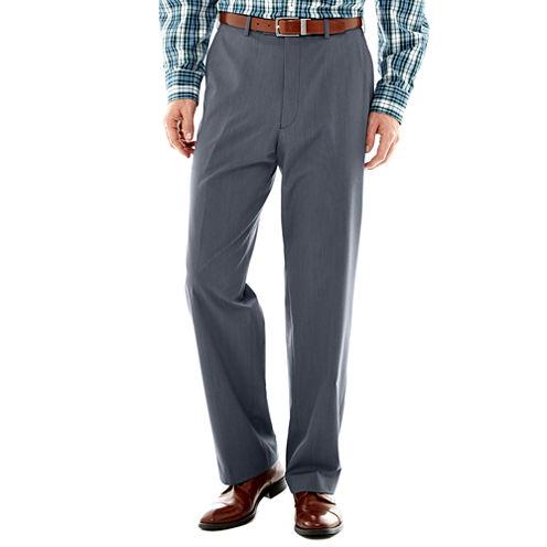 IZOD® Light Blue Tic Flat-Front Suit Pants–Classic Fit