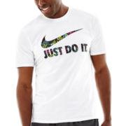 Nike® Floral Swoosh Tee