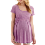 Maternity Short-Sleeve Scoopneck Babydoll T-Shirt