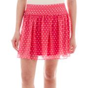 Olsenboye® Polka Dot Chiffon Skirt