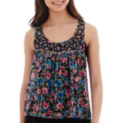 Olsenboye® Sleeveless Floral Chiffon Top