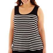 Liz Claiborne® Striped Tank Top - Plus