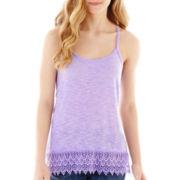 Decree® Racerback Crochet-Hem Tank Top