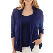 a.n.a® 3/4-Sleeve Open-Front Cardigan