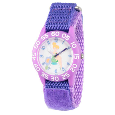 jcpenney.com | Disney Tinker Bell Girls Purple Strap Watch-Wds000107