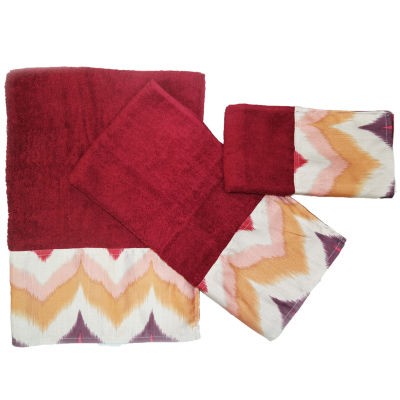 Popular Bath Flame Stitch 3-pc. Bath Towel Set