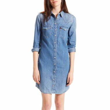 jcpenney.com | Levi's®  Long Sleeve Shirt Dress