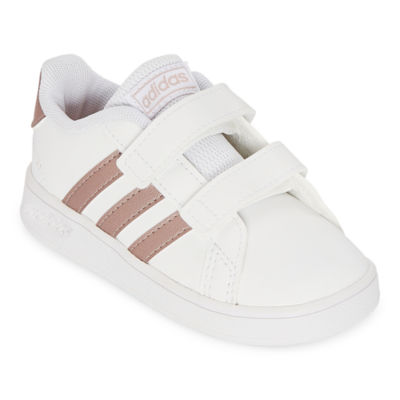 Banquete pegamento Brújula  adidas Grand Court Infant Toddler Unisex Kids Hook and Loop Running Shoes,  Color: White Rose Gold - JCPenney
