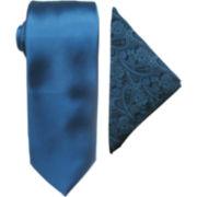 JF J. Ferrar® Prom Night Tie and Pocket Square Set