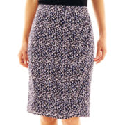 Liz Claiborne Print Wrap Pencil Skirt