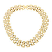 Worthington® Gold-Tone Crystal Link Collar Necklace