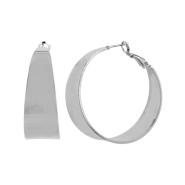 jcpenney.com | Worthington® Silver-Tone Thick Hoop Earrings