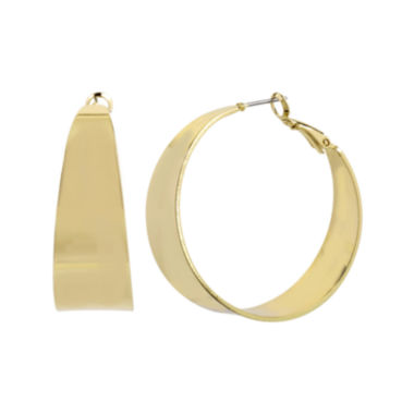 jcpenney.com | Worthington® Gold-Tone Thick Hoop Earrings