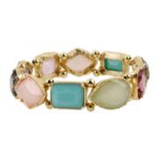 Worthington® Gold-Tone Multicolor Stone Stretch Bracelet