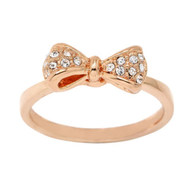 jcpenney.com | city x city® Rose-Tone Crystal Bow Ring