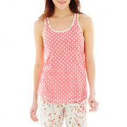 Insomniax® Lace-Accented Sleep Tank Top