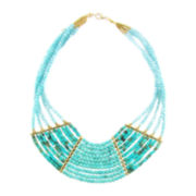 Pannee Turquoise Stone Crystal Statement Necklace