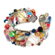 Pannee Multi-Crystal Cuff Bracelet