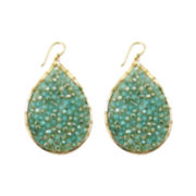 Pannee Crystal Beaded Teardrop Earrings
