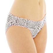 Flirtitude® Keyhole Ruched Microfiber Bikini Panties