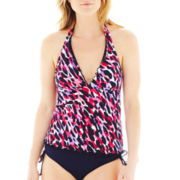 Jamaica Bay® Ruffled-Edge Halterkini Swim Top