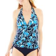 Jamaica Bay® Tiered Ruffled Halterkini Swim Top