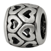 Forever Moments™ Oxidized Heart Spacer Bead