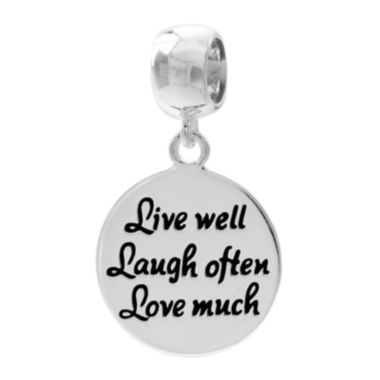jcpenney.com | Forever Moments™ Live, Laugh, Love Charm Bracelet Bead