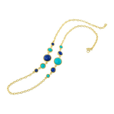 jcpenney.com | KJL by KENNETH JAY LANE Gold-Tone Aqua & Blue Stone Necklace