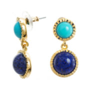 KJL by KENNETH JAY LANE Gold-Tone Aqua & Blue Stone Earrings