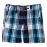 Arizona Plaid Chino Shorts - Boys 12m-6y