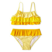 Joe Fresh™ Ruffled 2-pc. Swimsuit - Girls 1t-5t