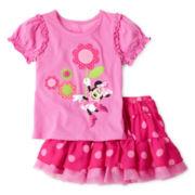 Disney Pink Minnie Mini Skirt Set - Girls 2-10