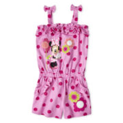 Disney Pink Minnie Romper - Girls 2-10