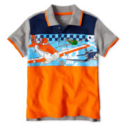 Disney Planes Gray Polo - Boys 2-10
