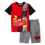 Disney Cars Top & Shorts Set - Boys 2-10