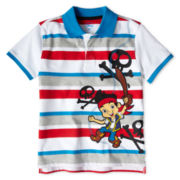Disney Jake Blue Striped Polo - Boys 2-10