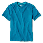 Arizona Short-Sleeve Slub V-Neck Tee - Boys 6-18