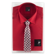 JF J. Ferrar Shirt and Tie Box Set - Slim Fit