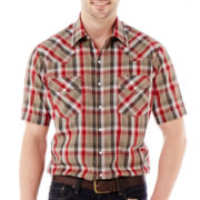 Ely Cattleman Short-Sleeve Plaid Snap Shirt-Big & Tall