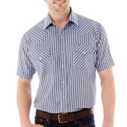 Ely Cattleman Short-Sleeve Stripe Snap Shirt-Big & Tall
