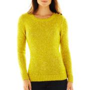 St. John's Bay® Marled Crewneck Sweater