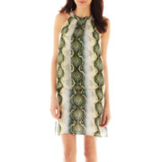 Worthington® Tiered Print Halter Dress