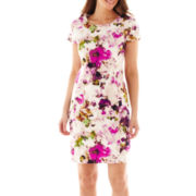 Liz Claiborne Short-Sleeve Floral Shift Dress