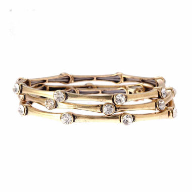 jcpenney.com | Natasha Accessories Womens Clear Crystal Stretch Bracelet