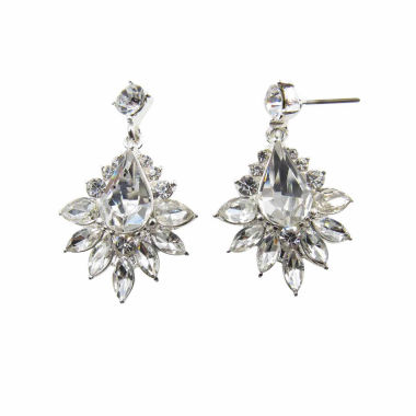 jcpenney.com | Vieste Rosa White Brass Drop Earrings